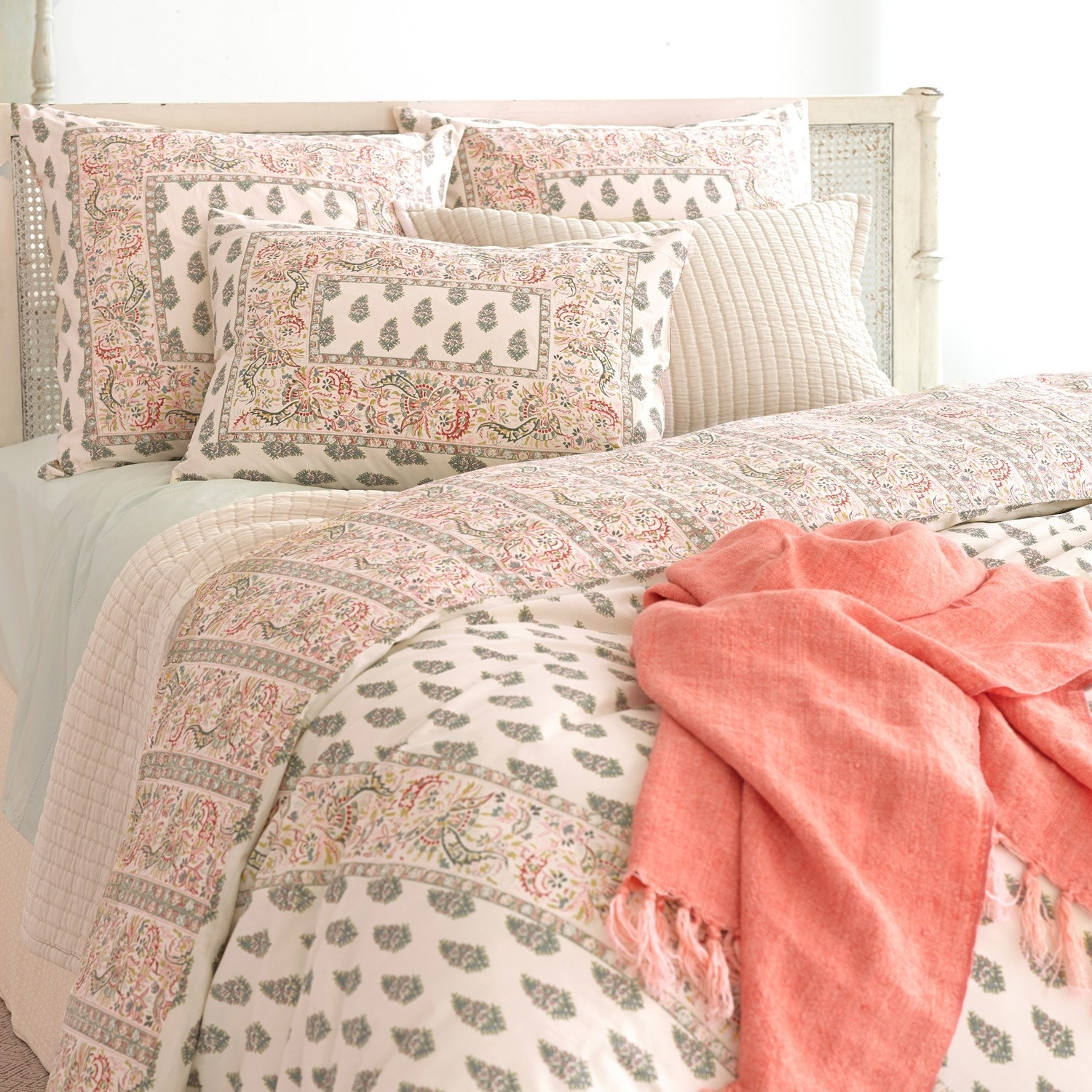Charming Pine Cone Hill Annette Spring Pillow Sham For Lovely Bedding Ideas