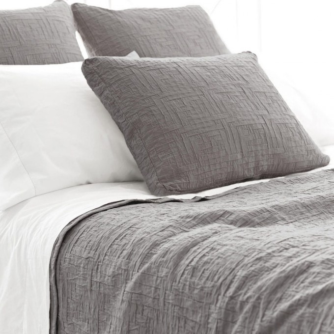 Charming Pine Cone Hill Bedding In Gray And White Theme For Bed Ideas