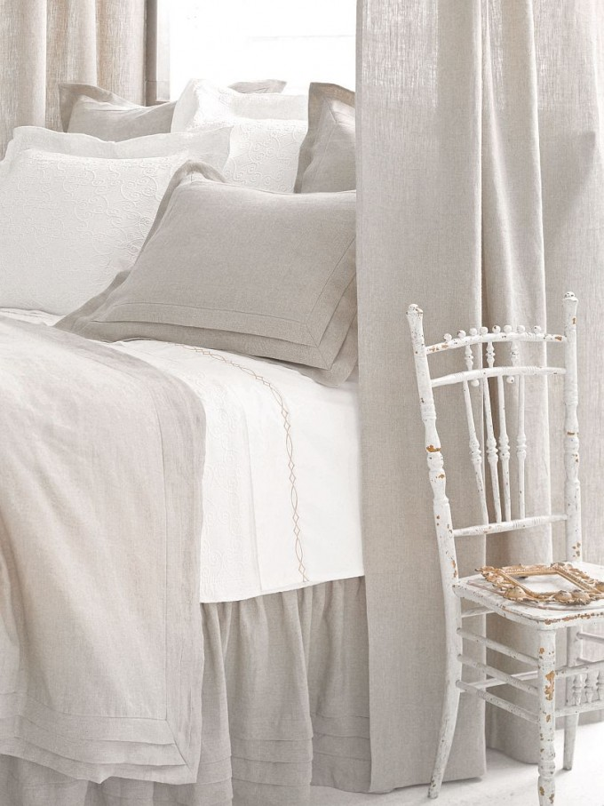 Charming Pine Cone Hill Bedding In White And Gray For Bed Ideas