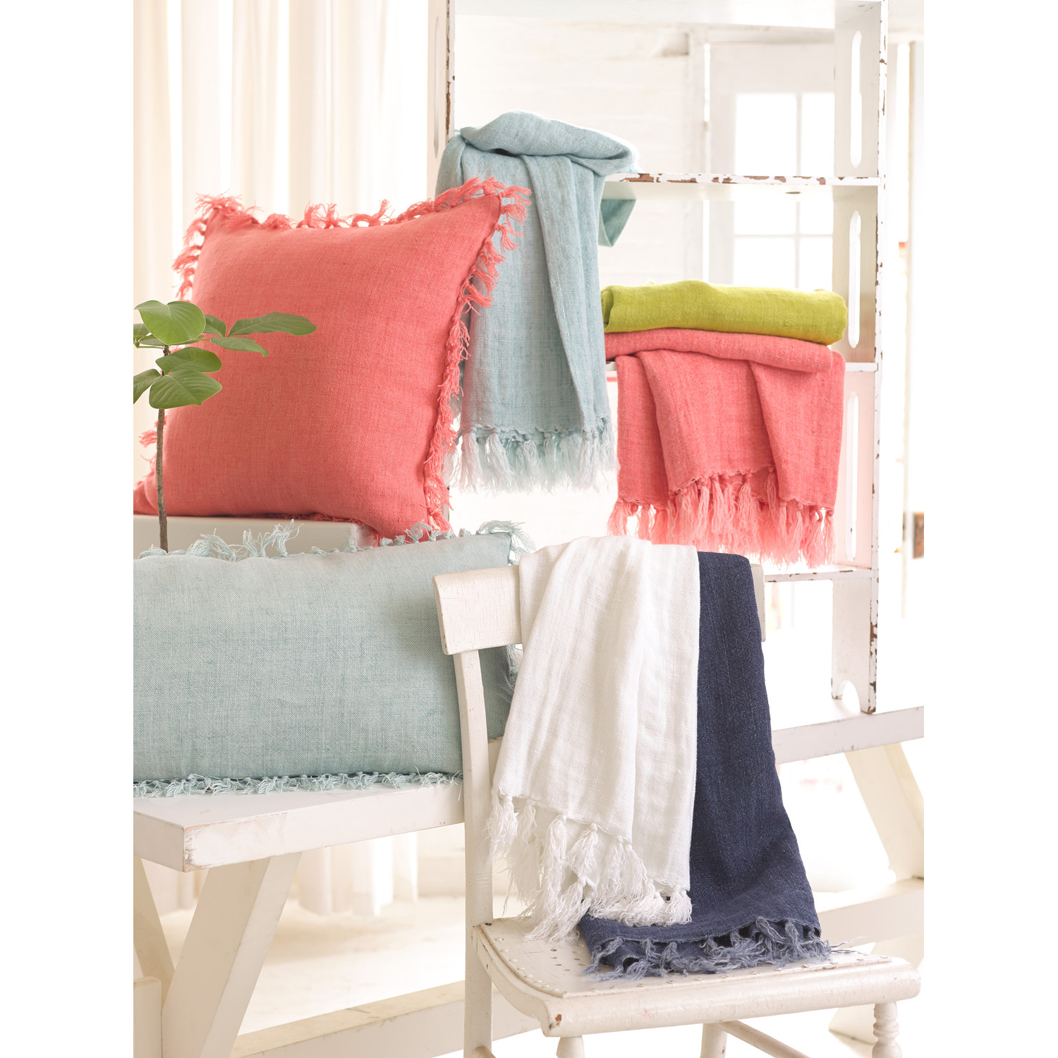 charming pine cone hill laundered linen throw for bed ideas