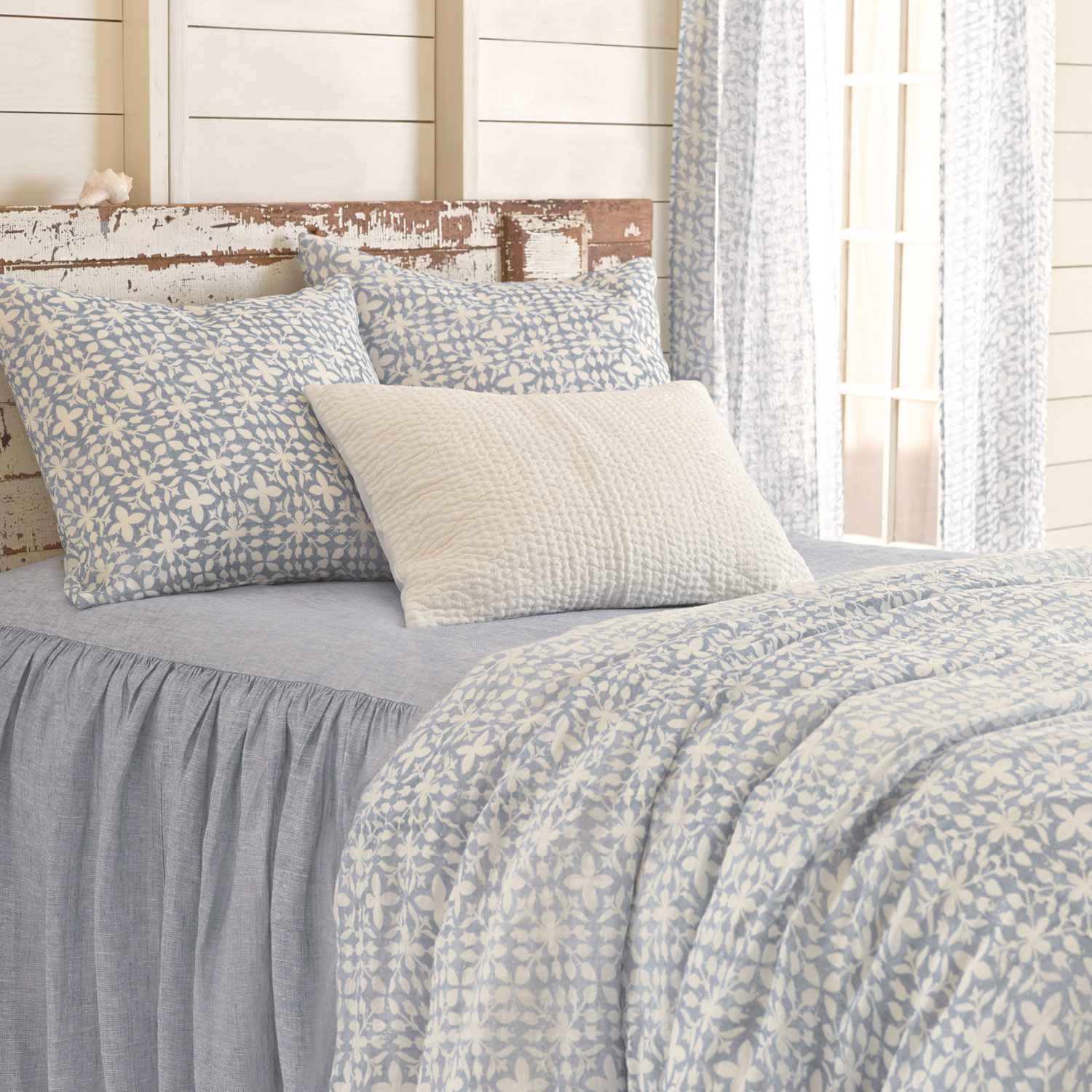 Charming Pine Cone Hill Veena Blue Duvet Cover For Bed Ideas
