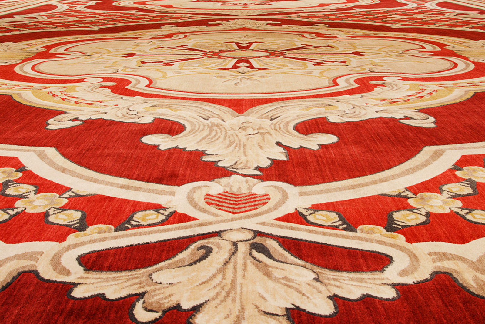 charming red nourison rugs with floral pattern for floor decor ideas