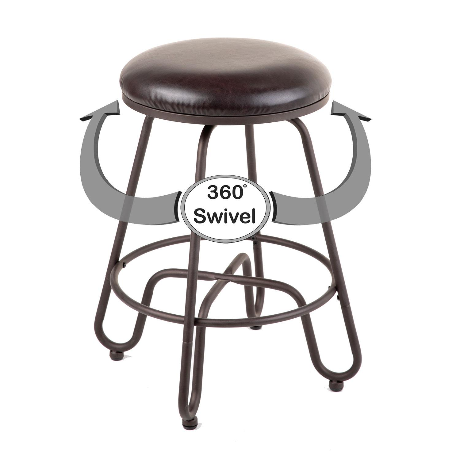 charming swivel seat bar stool in brown with leather seat by cymax bar stools for home furniture ideas