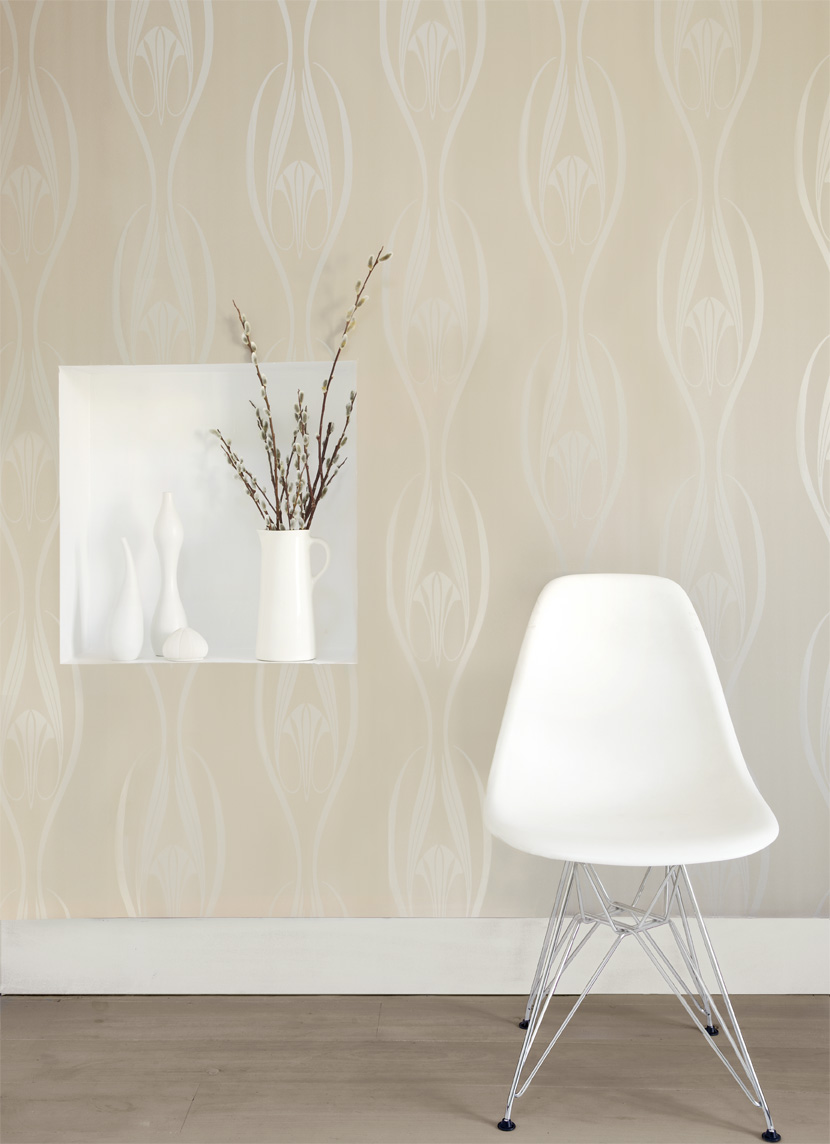 charming Tempaper Wallpaper in calm color for wall decor ideas