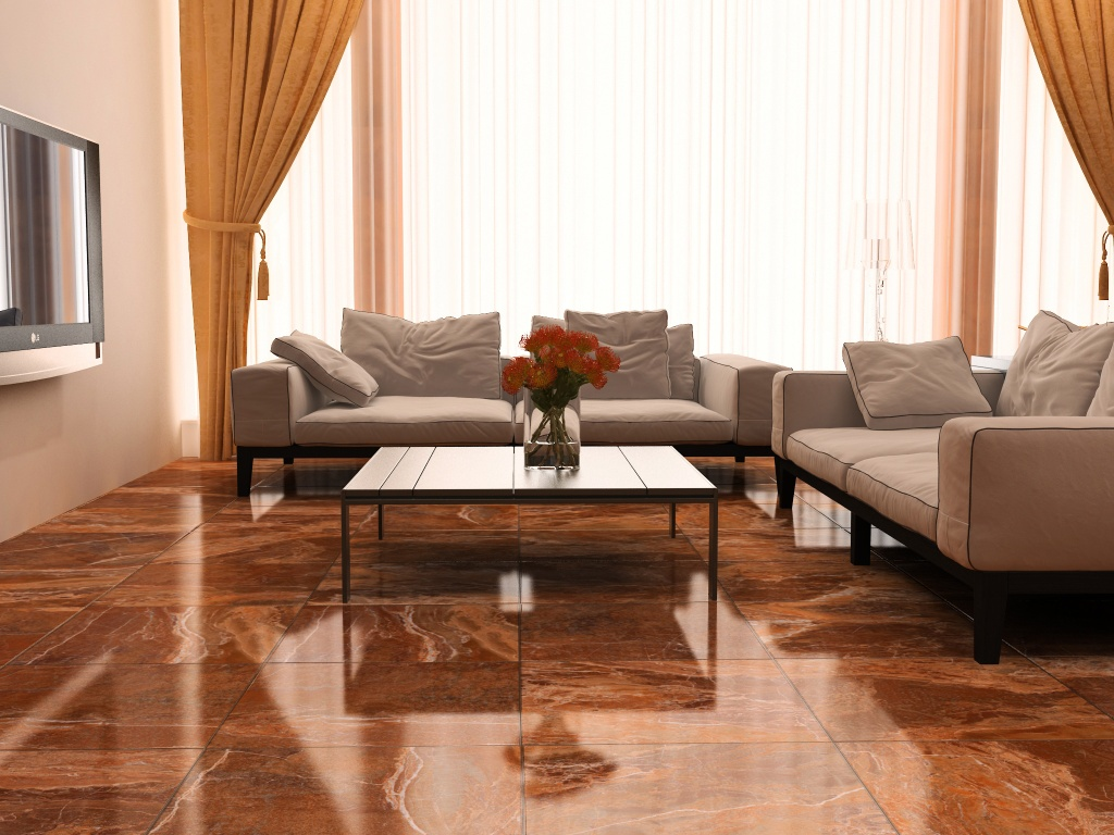 charming vesubio napoles interceramic tile floor matched with white wall plus white sofa set for living room decor ideas