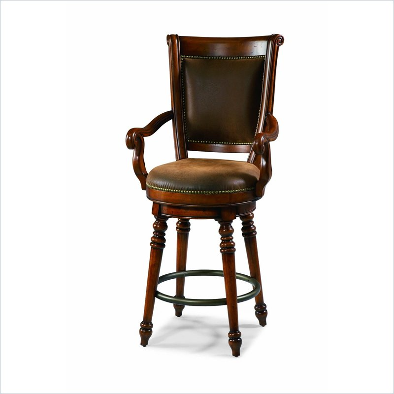 charming Waverly Place Swivel Bar Stool in Cherry by cymax bar stools for home furniture ideas