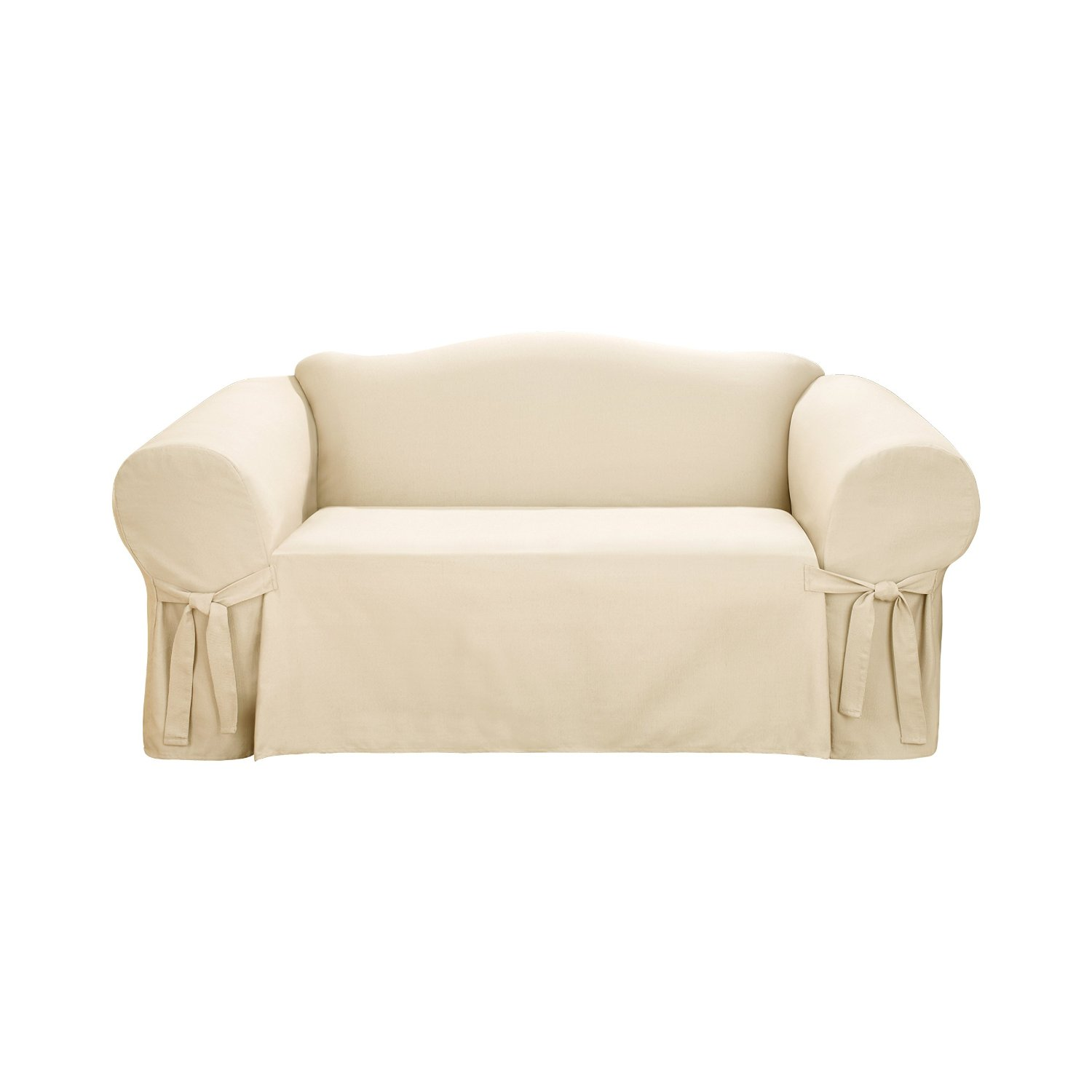 charming white surefit cover for chic sofa ideas