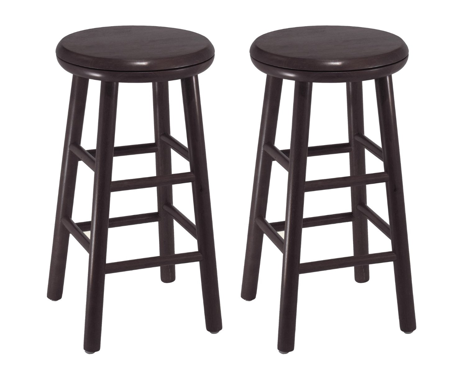 Charming Wooden Cymax Bar Stools In Dark Brown For Home Furniture Ideas