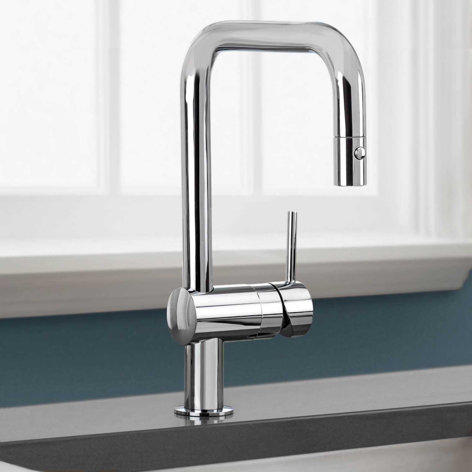 chic 32 319000 Minta Single Handle Pull Down Kitchen Faucet by grohe faucets for kitchen furniture ideas