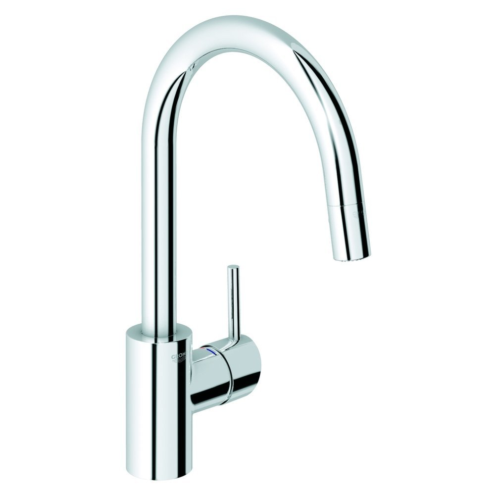chic 32 665 000 Concetto Dual Spray Pull Out Kitchen Faucet by grohe faucets for kitchen furniture ideas