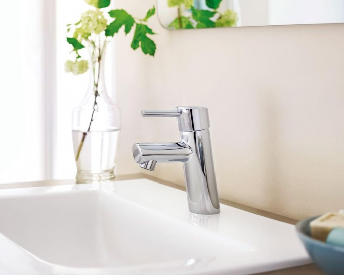 Chic 34270EN1 Concetto Single Handle Bathroom Faucet Touch On By Grohe Faucets For Bathroom Furniture Ideas
