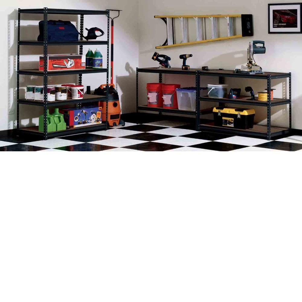 Chic 48 In W X 72 In H X 24 In D Steel Commercial Shelving By Edsal Shelving Before The White Wall For Garage Decor Ideas