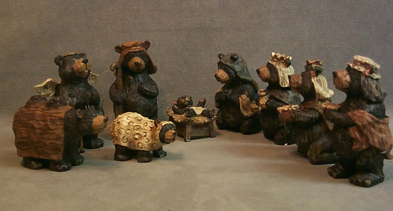 chic bear nativity sets for christmas decoration ideas