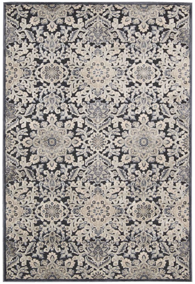 Chic Bel Air Charcoal Rectangle Nourison Rugs For Floor Decor Ideas