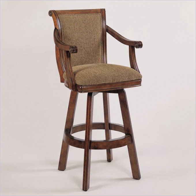 Chic Brandon 30 Inch Swivel Bar Stool In Warm Cherry By Cymax Bar Stools For Home Furniture Ideas