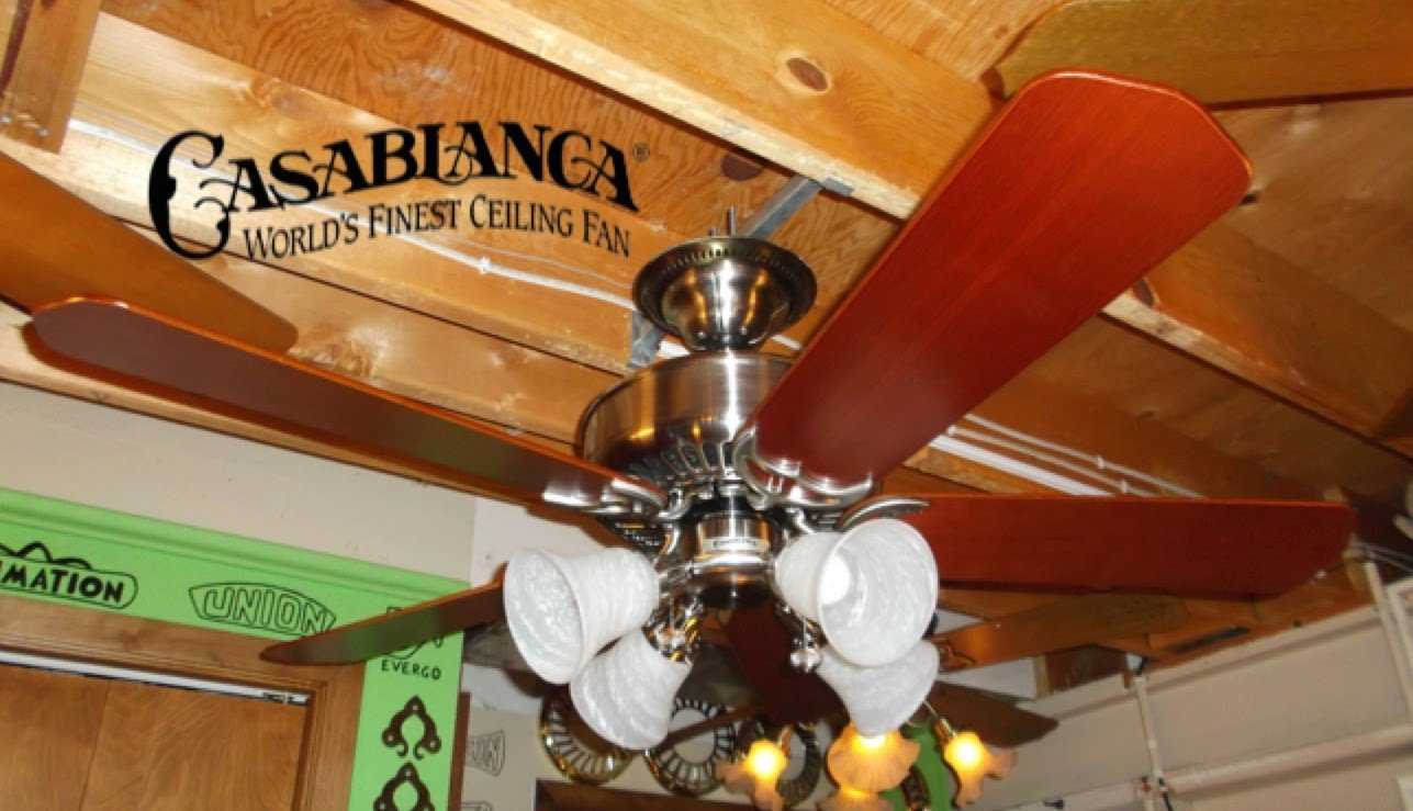 chic Casablanca Ceiling Fans in five blade slinger and four lights for ceiling decor ideas