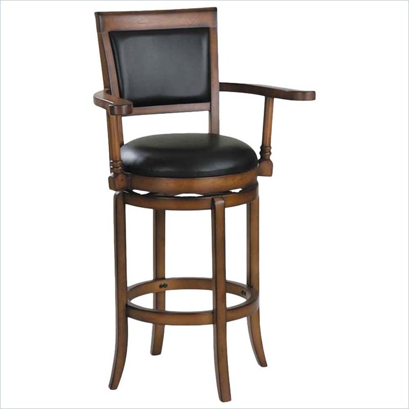 chic Chelsea 30inch Bar Stool in Oak and Black by cymax bar stools for home furniture ideas