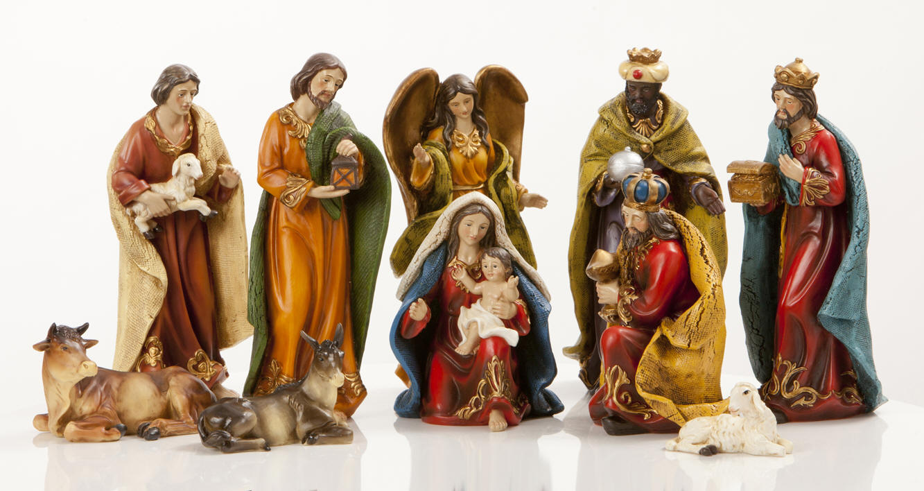 chic colorful nativity sets for christmas decoration ideas