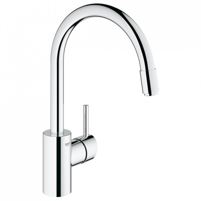 Chic Concetto 1 Handle Kitchen Faucet In StarLight Chrome By Grohe Faucets For Kitchen Furniture Ideas