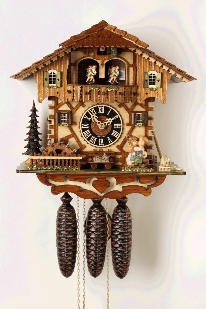 Chic Cuckoo Clock Made Of Wood With Two Tier Home Design For Home Furniture Ideas
