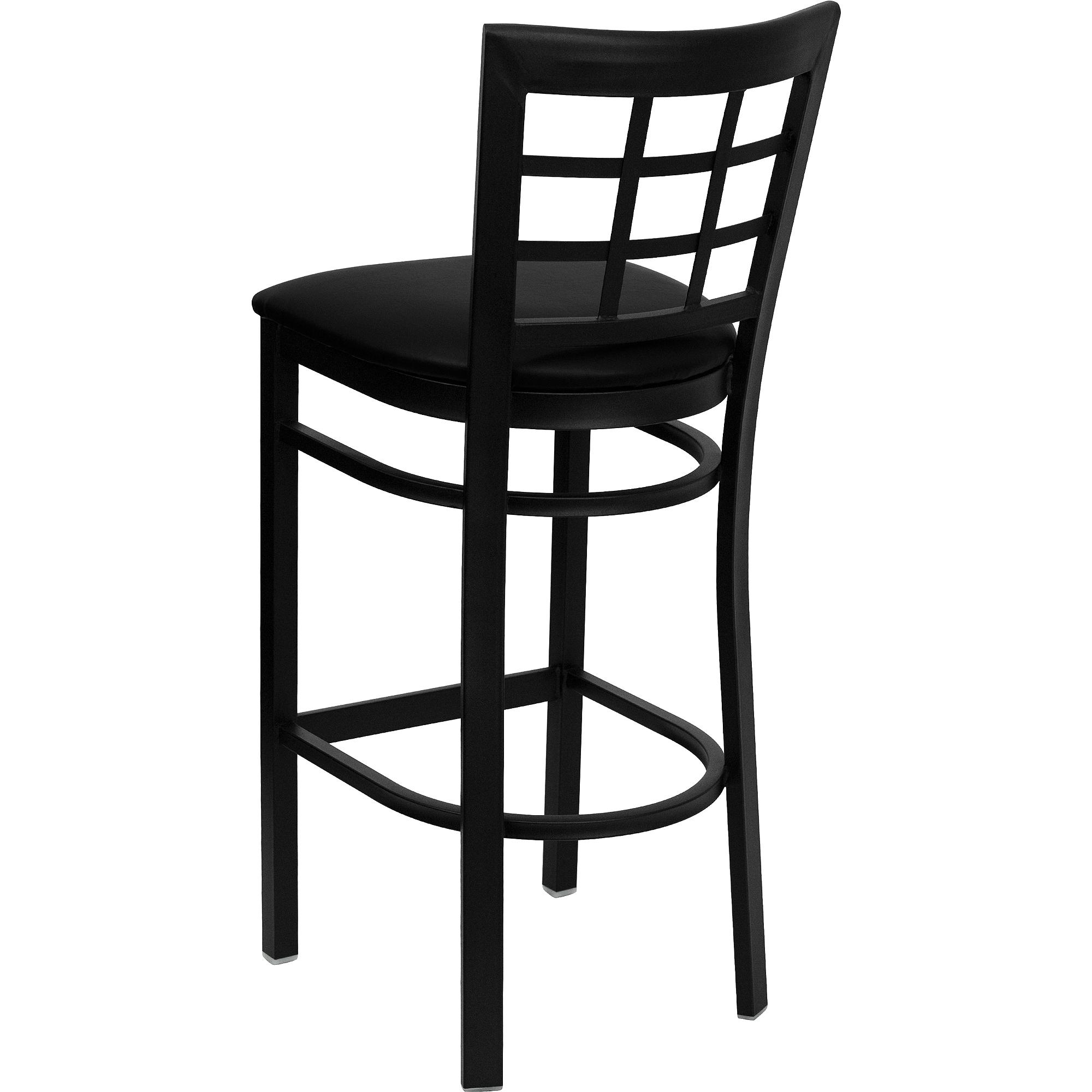 chic cymax bar stools in solid black with leather seat for home furniture ideas
