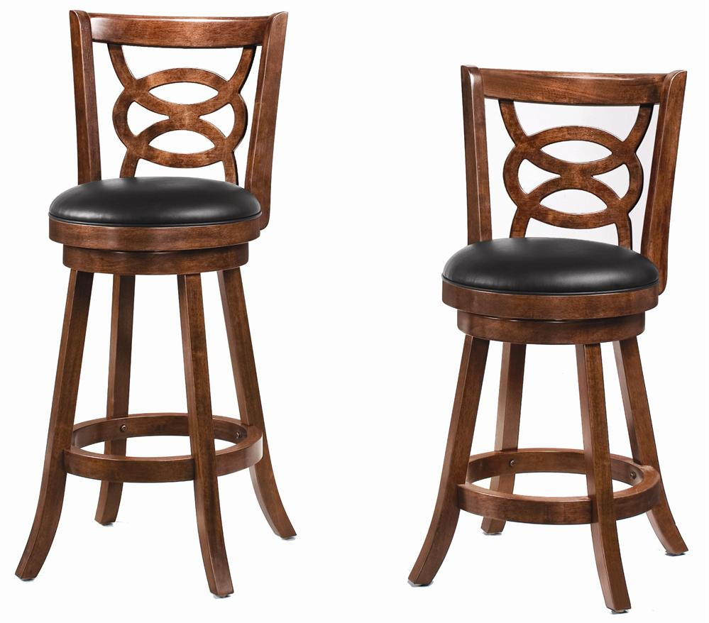 chic cymax bar stools with black leather seat and decorative back for inspiring home furniture ideas
