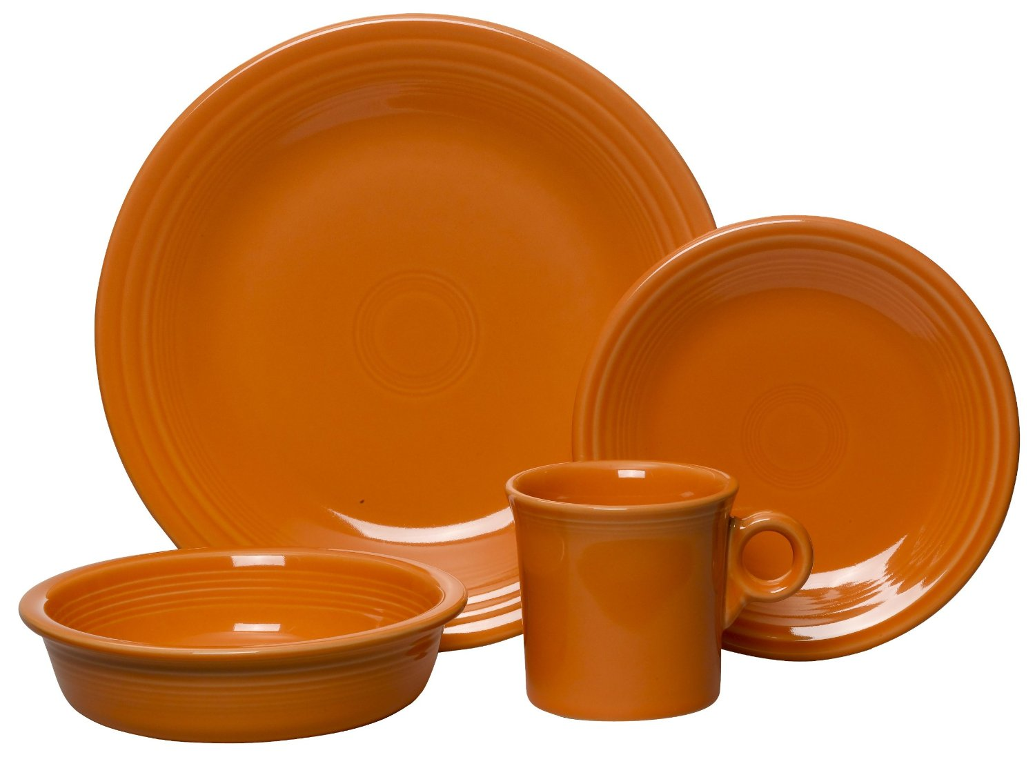 Chic Fiestaware 4 Piece Dinnerware Place Setting In Orange For Dinnerware Ideas