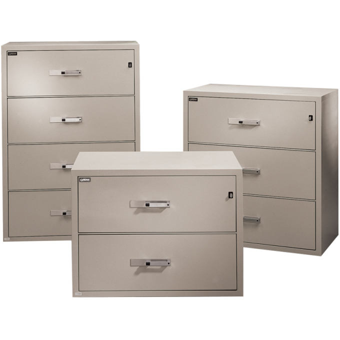 Chic Fireproof File Cabinet In Antique White For Data Safety Ideas