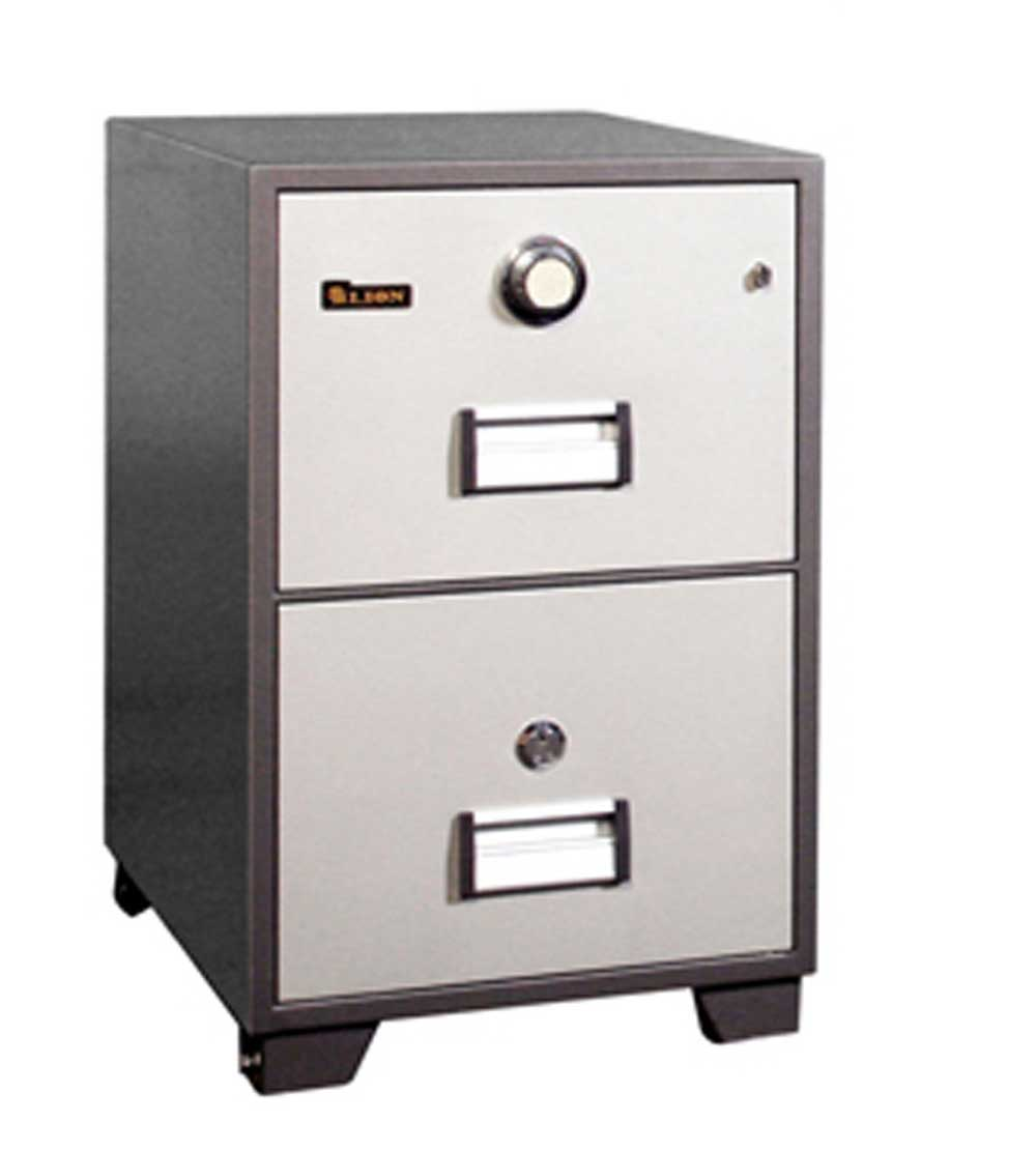 chic fireproof file cabinet in gray with white handle for data safety ideas