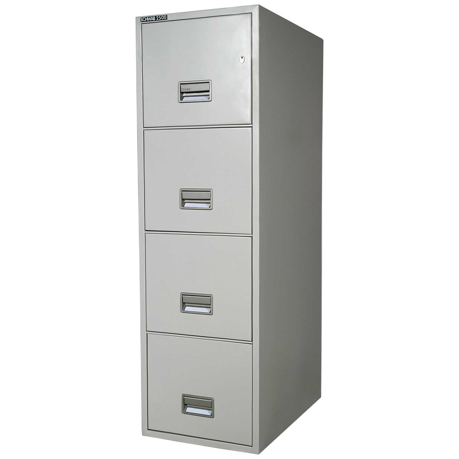 chic fireproof file cabinet in white with four drawers for home office furniture ideas