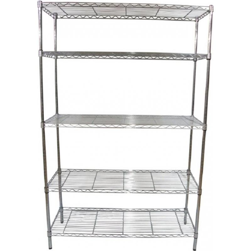 Use Edsal Shelving At Your Garage To Save Your Tools: Chic Five Tier Of Edsal Shelving Made Of Steel For Garage Furniture Ideas