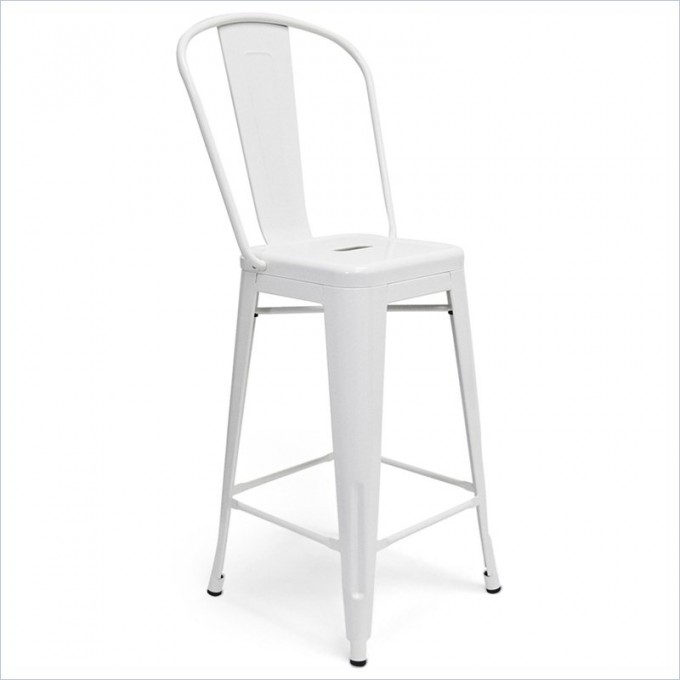 Chic Garvin 26inch Counter Stool In White By Cymax Bar Stools For Home Furniture Ideas