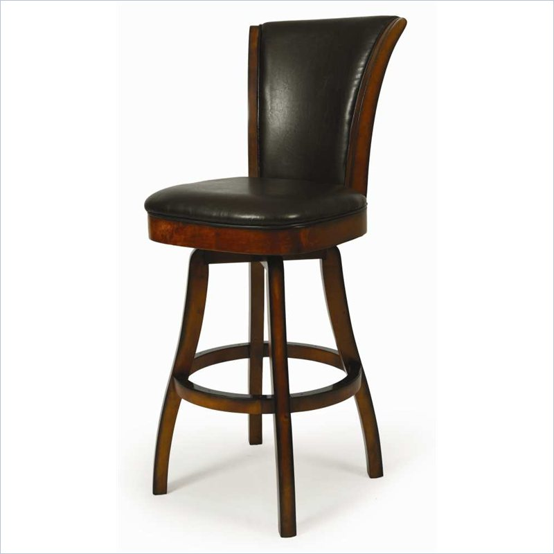chic Glenwood 26inch Swivel Bar Stool in Russet Cordovan by cymax bar stools for home furniture ideas