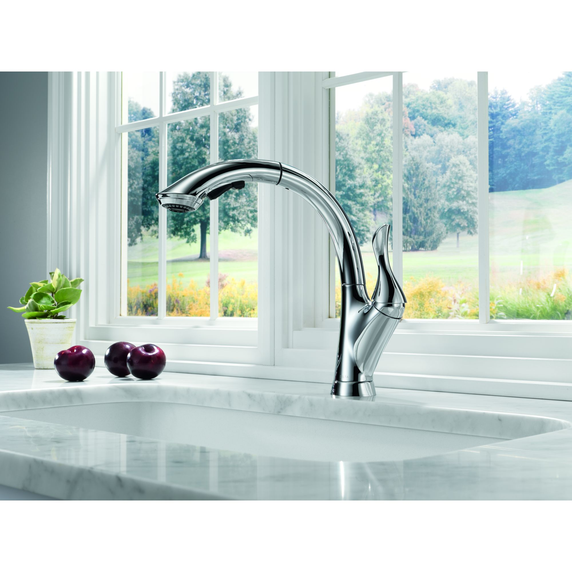 chic grohe faucets in silver with single handle on marble countertop with sink for kitchen decor ideas