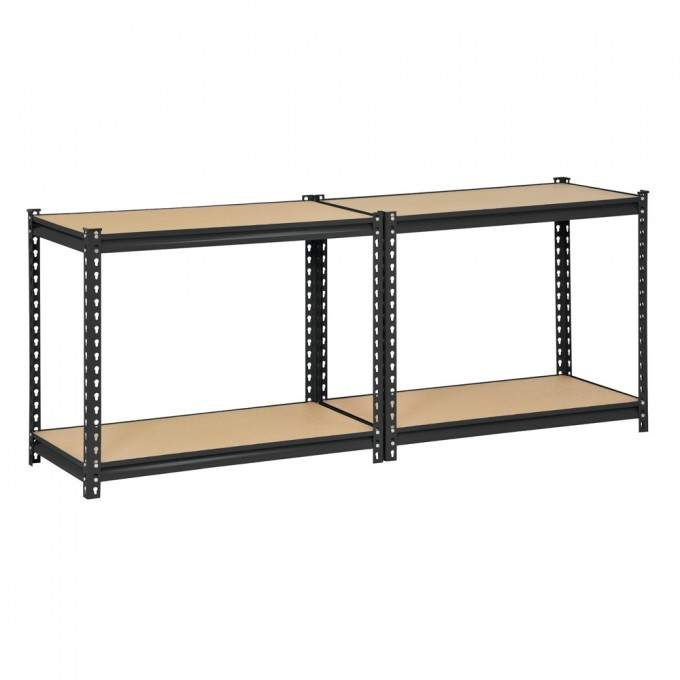 Chic H Steel Four Shelf Heavy Duty Shelving Unit By Edsal Shelving For Garage Furniture Ideas