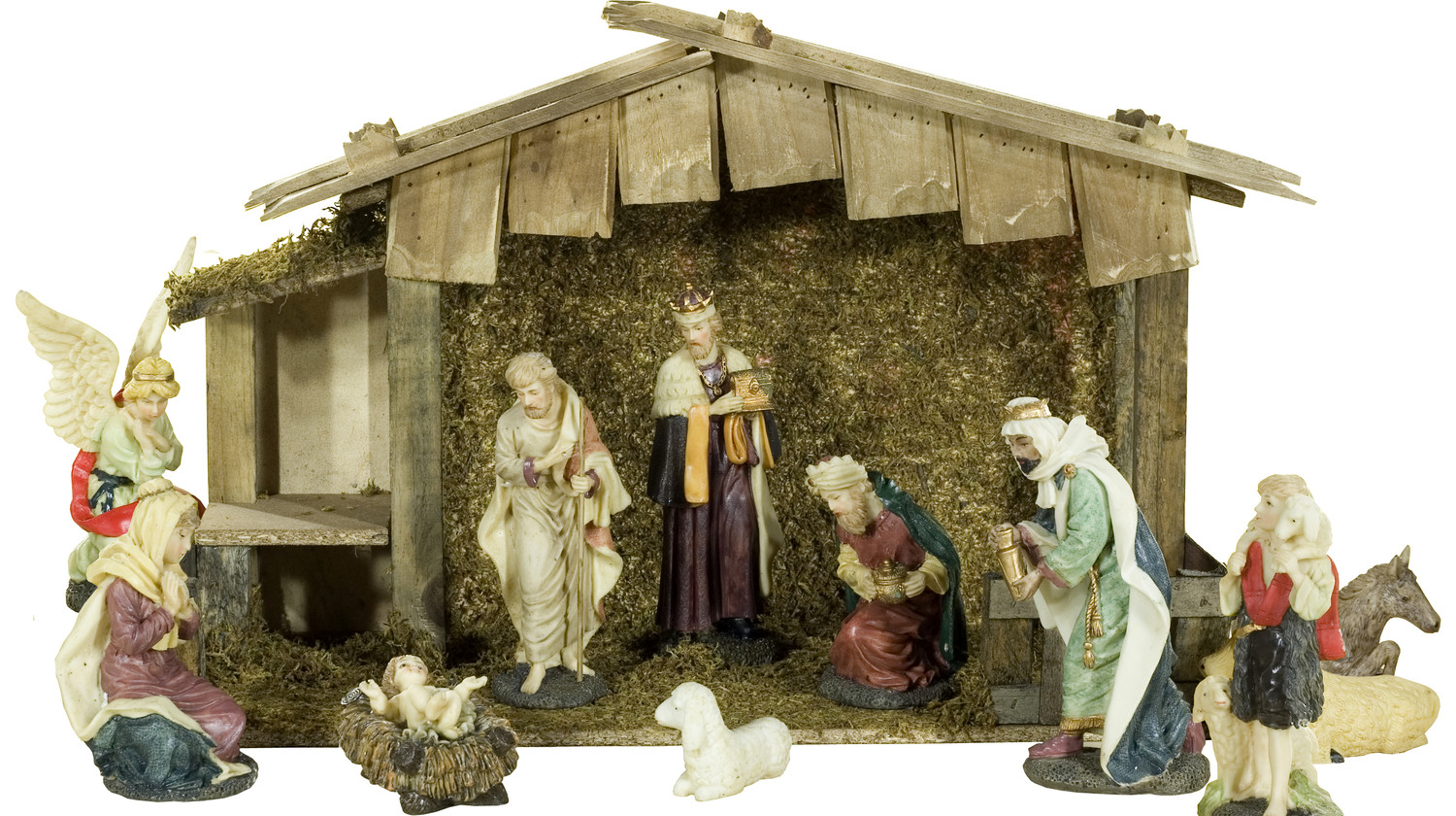chic holy family nativity sets for christmas decoration ideas