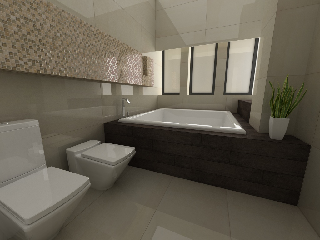 chic interceramic tile For Private Bathroom Design with closet and bathup ideas
