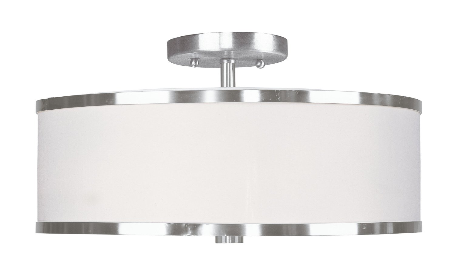Chic Livex Lighting 6368 91 Park Ridge 3 Light Brushed Nickel Semi Flush For Home Lighting Ideas