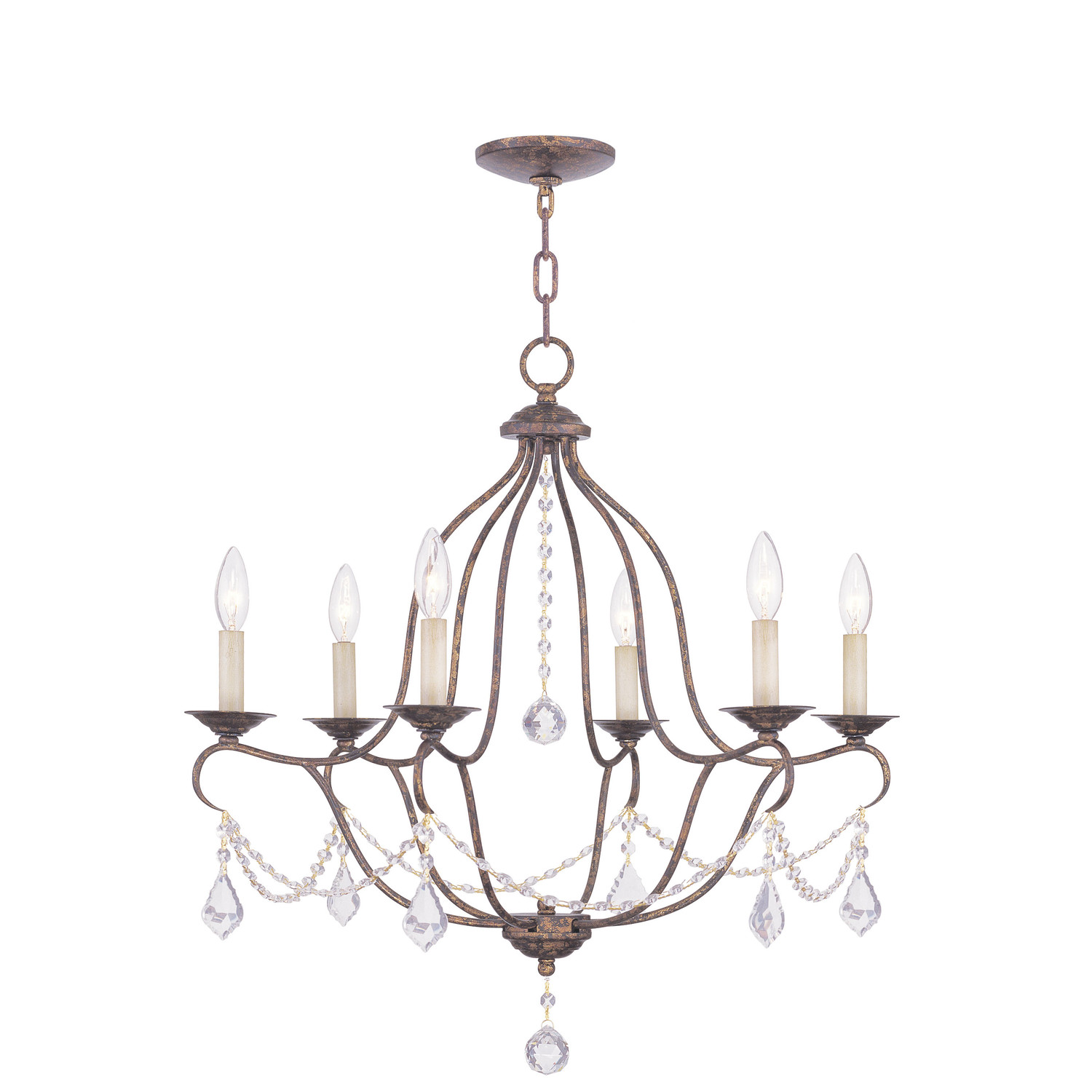 Chic Livex Lighting Chesterfield 6 Light Chandelier For Home Lighting Ideas