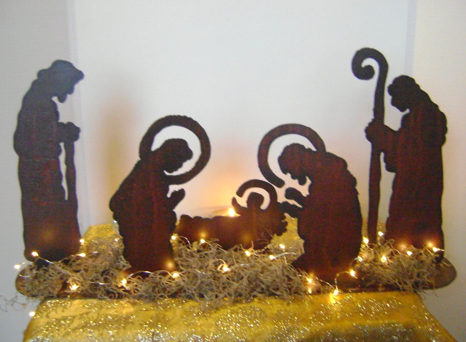chic nativity sets with lights for christmas decoration ideas