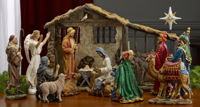 Chic Nativity Sets With Seated Camel For Christmas Accessories Ideas