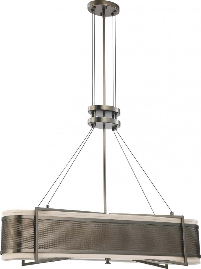 Chic Nuvo Lighting Four Light Diesel Island Pendant With Slate For Home Lighting Ideas