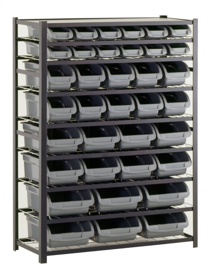 Chic PB310 Industrial Gray Heavy Duty Steel Boltless By Edsal Shelving For Garage Furniture Ideas