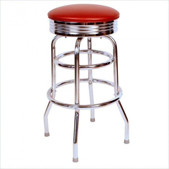 Chic Retro 1950s 30inch Swivel Bar Stool In Wine By Cymax Bar Stools For Home Furniture Ideas