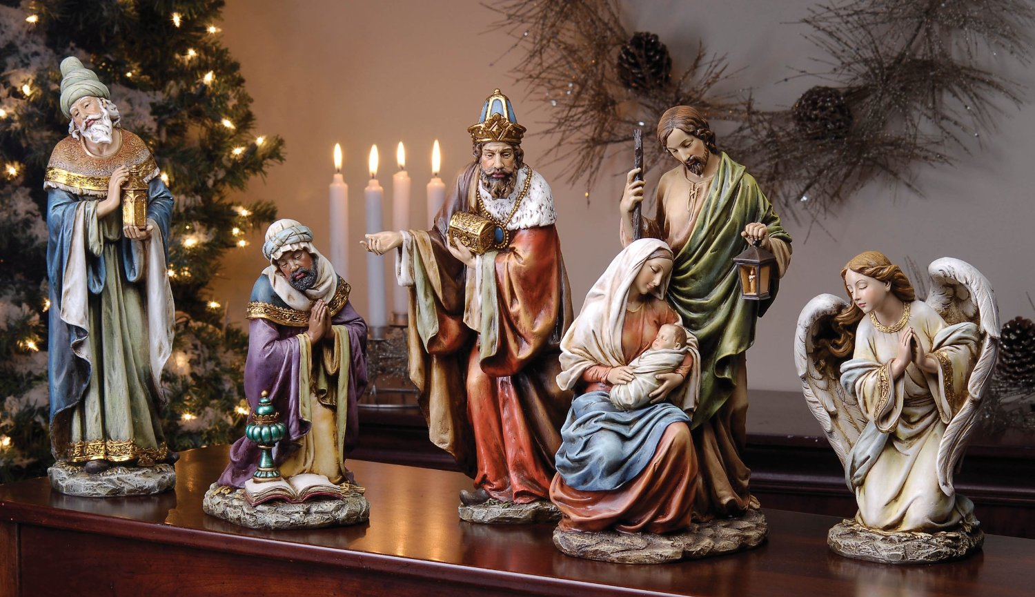 chic roman nativity sets for christmas decoration ideas