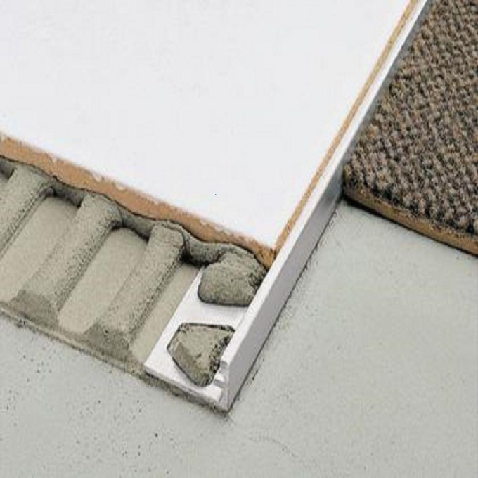 Chic Schiene Aluminum 3/8 In X 8 Ft 2 In Metal L Angle Tile Schluter Strip For Flooring Ideas