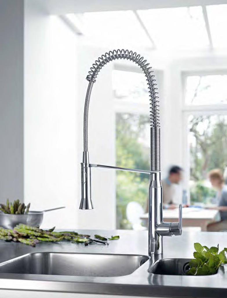 chic silver grohe faucets with single handle plus stainless steel for kitchen decor ideas
