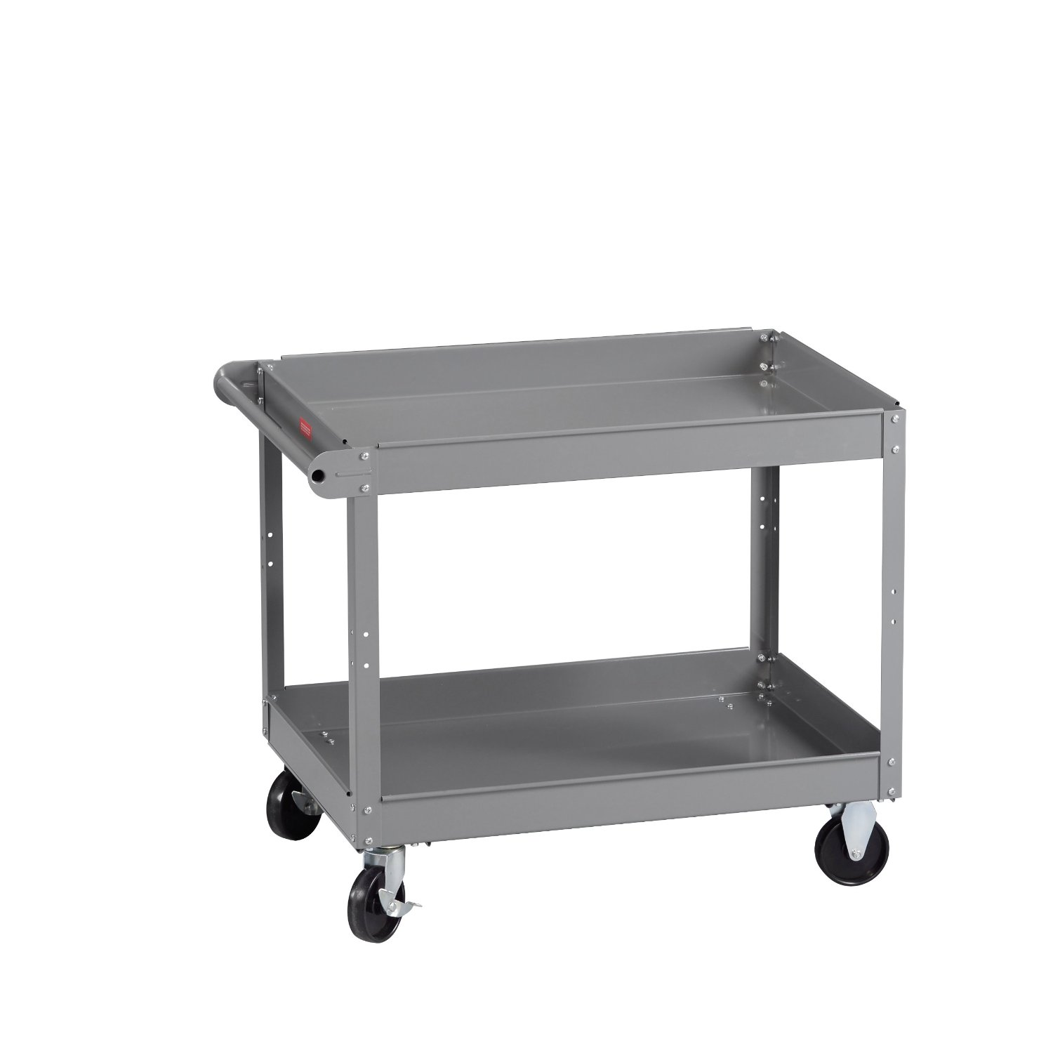 Chic Small Edsal Shelving In Gray Made Of Steel With Wheels For Garage Furniture Ideas