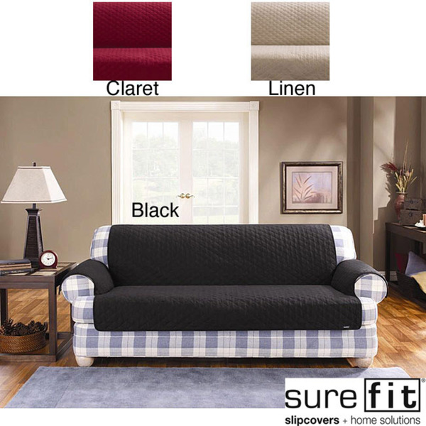 chic surefit quilted cotton duck pet throw for sofa ideas