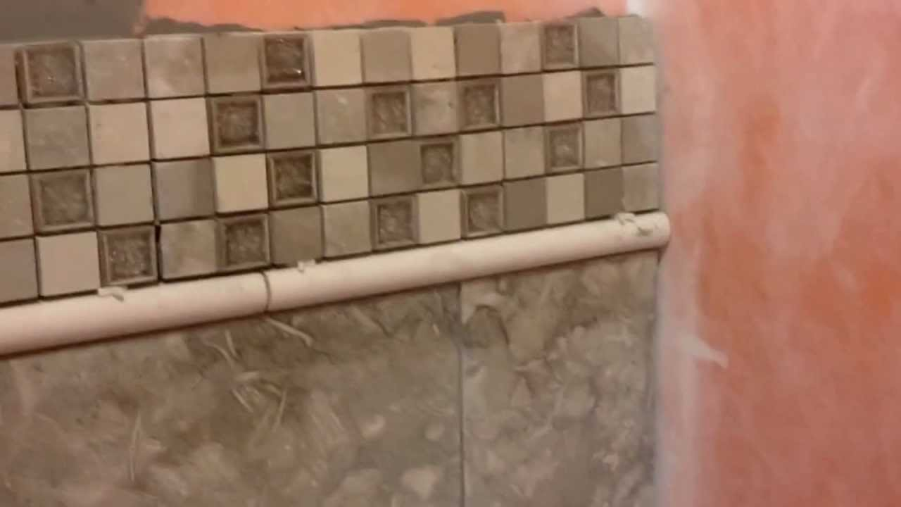 Chic Tile Backsplash With Schluter Strip For Wall Decor Ideas